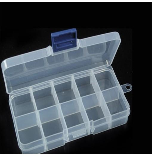 Detachable Transparent Multi-Function Box with 10 Grids