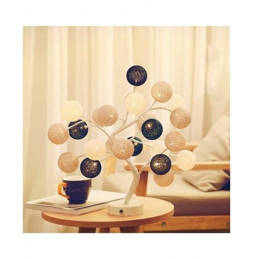 LED Cotton Ball Bonsai Tree Desk Light