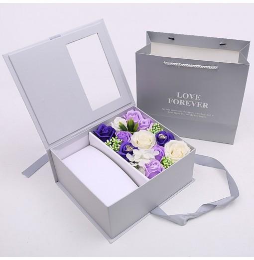Surprise Gift Box Flip Valentine'S Day Birthday Gift Simulation Flower