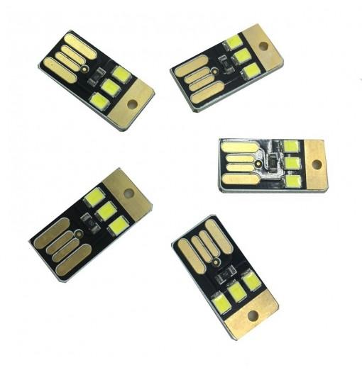 5PCS 0.5W White USB Mini Lamp Night Light 3LEDS DC5V 2835 SMD 85LM USB LED Bulbs for Laptop