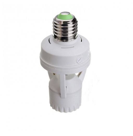 PIR Infrared Motion Sensor E27 LED Lamp Base Holder Light Control Switch Socket Converter