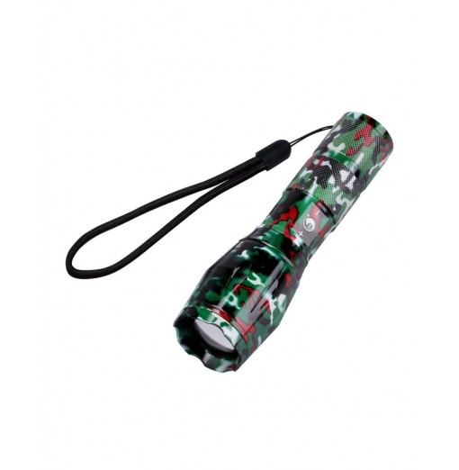 U`King Zq-X1061 Cree T6 1000LM 5 Mode Zoomable Camouflage Flashlight Torch Set 5500K Multiple Color