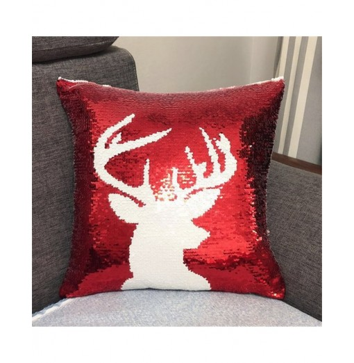 Christmas Pattern Positioning Embroidery Piece Fashion Pillow Case