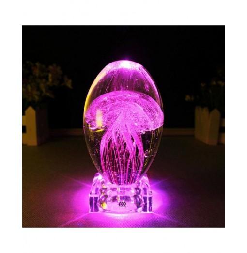 YWXLight 0.7W DC 5V 3D Jellyfish Model LED Lighting Crystal Night Light
