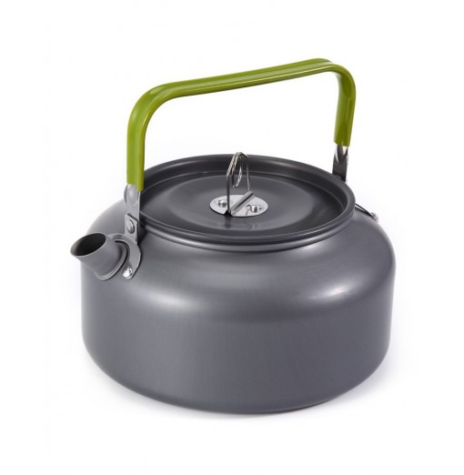 Aluminum 1.2L Camping Home Kettle Coffee Pot with Mesh Bag