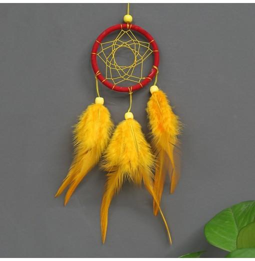 Beautiful Dream Catcher Handmade Dreamcatcher with Feathers for Home Wall Decorations Car Ornament