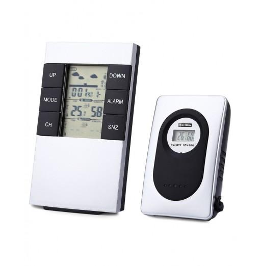 TS - H146 433MHz Wireless Weather Station Alarm Clock Indoor Outdoor Thermometer Humidity