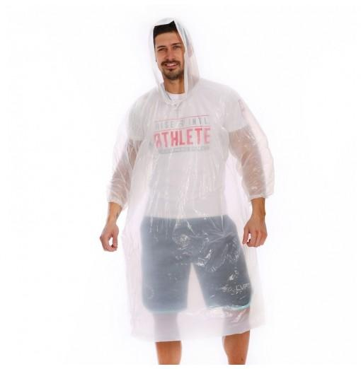 Emergency Disposable Raincoat for Adults with Drawstring Hood and Elastic Sleeve