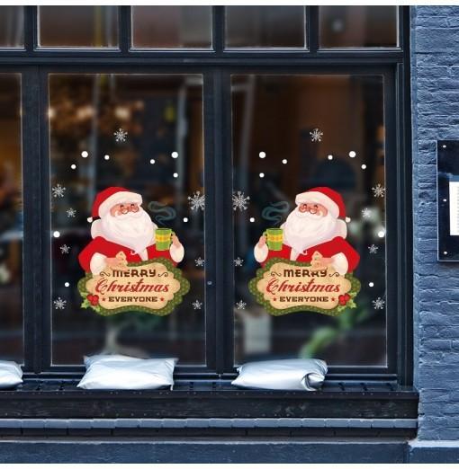 Santa Claus PVC Window Wall Sticker