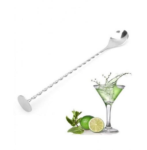 YEDUO Stainless Steel Threaded Bar Spoon Swizzle Stick Coffee Cocktail Mojito Wine Spoons Barware Bartender Tools