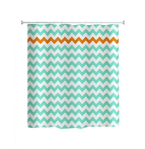 Waterproof Fabric Shower Curtain Waved Pattern 180 x 180cm
