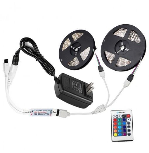 Brelong 10M 2835SMD RGB 600 LED Strip Light + Controller + Cable Connector + Adapter 3A EU / US 100 - 240V