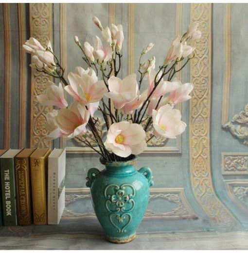 1 Branch European Style Magnolia Flower Home Decoration Artificial Flower