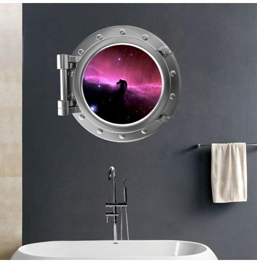 3D Wall Sticker Universe Starry Sky Landscape Creative Decorations XQ110133