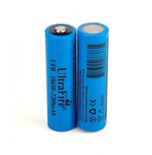UltraFire 18650 3.7V Actual Capacity of 2200MAH Rechargeable Lithium Battery 2 Groups