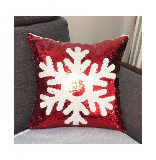 Christmas Sequins Positioning Embroidery Can Flip The Pattern Holding Pillowcase