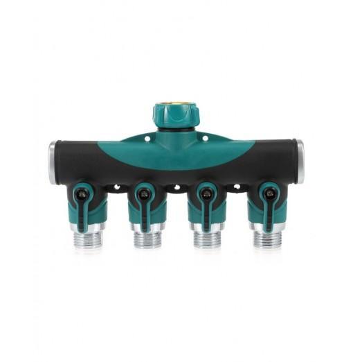 4 Way Hose Connector Garden Faucet Valve Splitter