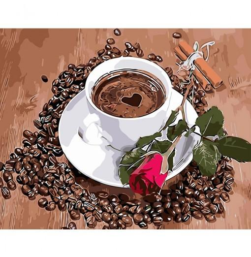 DIY Love Coffee Oil Painting Art Wall Home Decoration