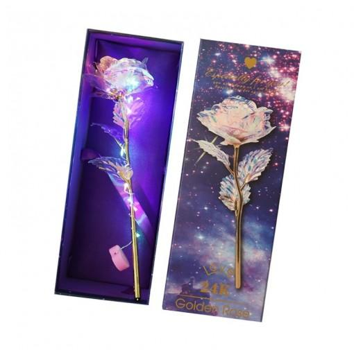Gold Foil Rose Glowing Valentine'S Day Christmas Gift Single