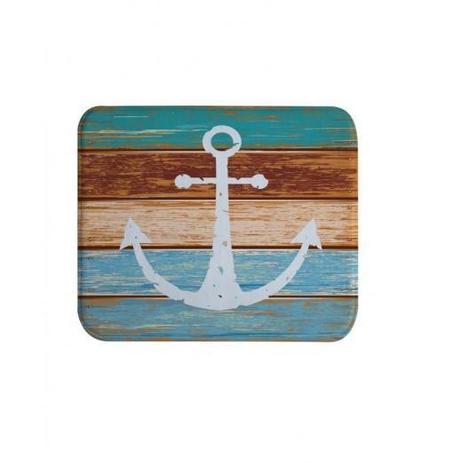 Board Anchor Super Soft Non-Slip Bath Door Mat Machine Washable Quickly Drying