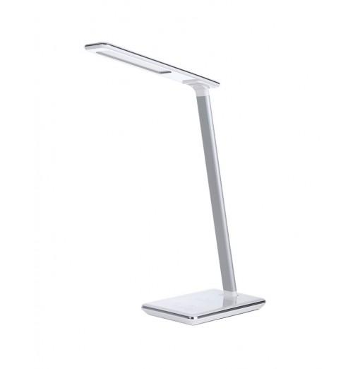 WD102 Folding Eye Protection LED Desk Table Lamp with Qi Wireless Desktop Charger USB Output