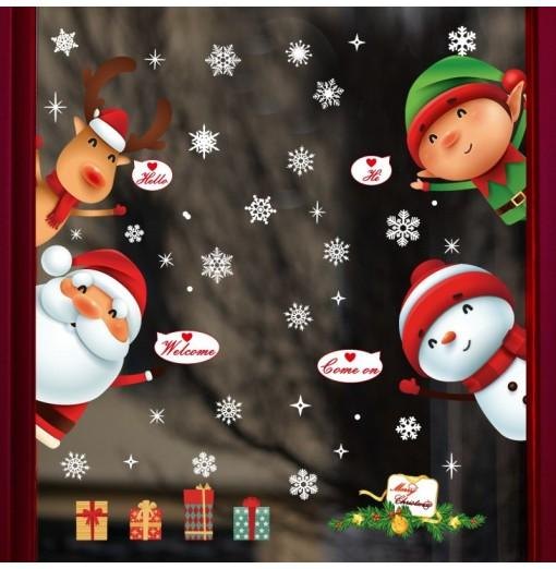 Cartoon Santa Claus Wall Stickers