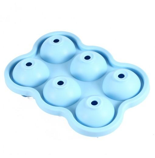 6 Cavity Silicone Sphere Ice Cube Tray Mold