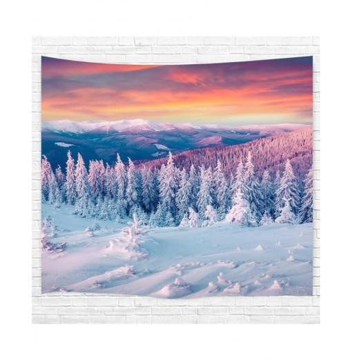Snow 3D Printing Home Wall Hanging Tapestry for Decoration