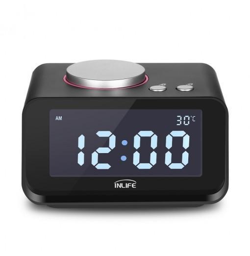 K1 Alarm Clock with Radio Dual USB Charger