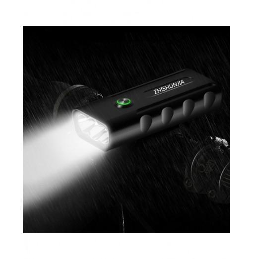 ZHISHUNJIA BX3 2400lm 3-Mode LED Flashlight USB Rechargeable Bicycle Lamp