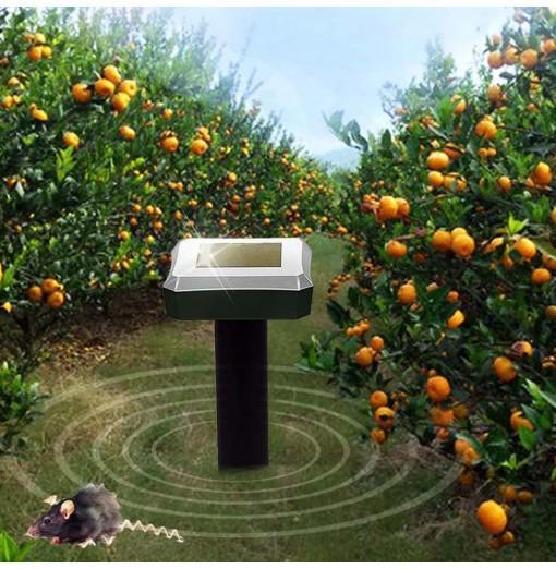 RC - 516 Solar Mouse Repeller Landscape Garden Snake Repelling Device 3pcs