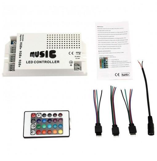 Music Sound Control IR Remote Control LED RGB 12-24V 24 Keys led Controller