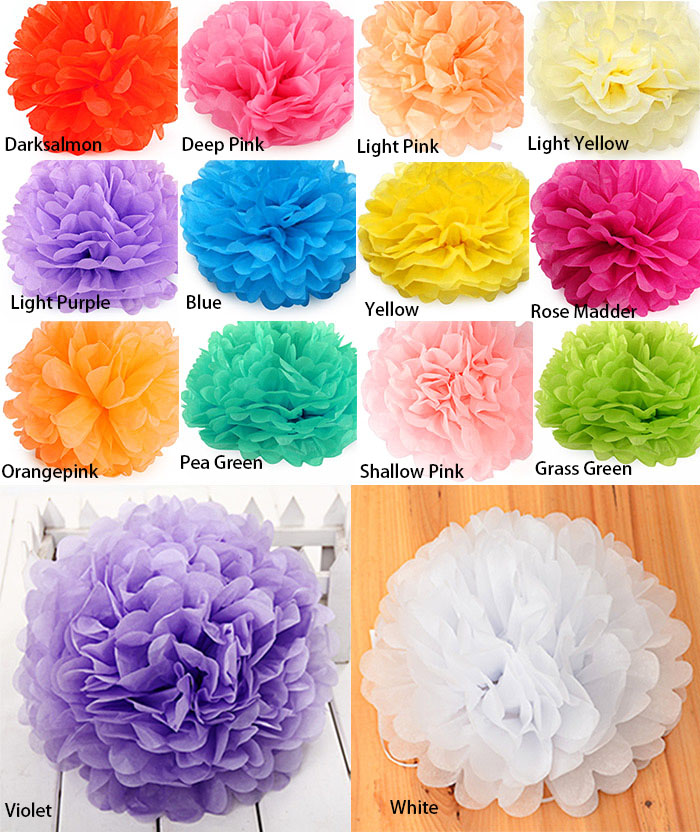 DIY 8 inch Paper Flower Ball Wedding Party Home Decoration Artware